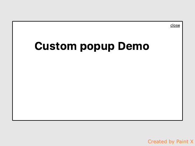 Custom popup with css and jQuery
