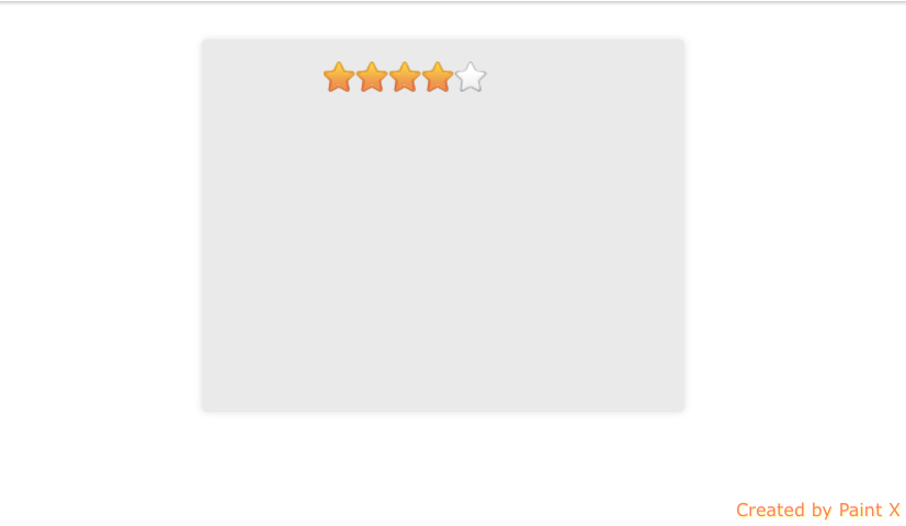 Simple five star rating with HTML and CSS