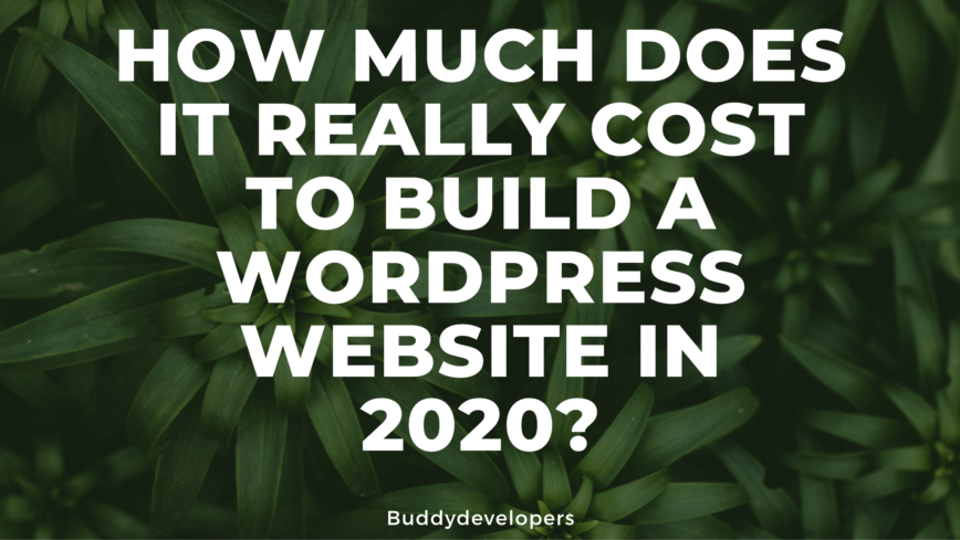 Cost to build a WordPress website in 2020?